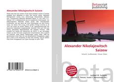 Capa do livro de Alexander Nikolajewitsch Saizew