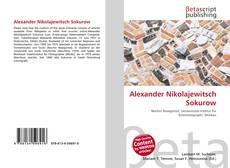 Buchcover von Alexander Nikolajewitsch Sokurow