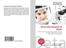 Bookcover of University Hospital of Wales
