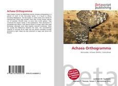 Borítókép a  Achaea Orthogramma - hoz