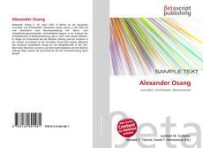 Bookcover of Alexander Osang