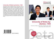 Bookcover of University of Wales by-election, 1943