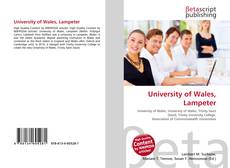 Bookcover of University of Wales, Lampeter