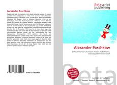 Bookcover of Alexander Paschkow