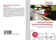 Buchcover von Bahnhof Potsdam Medienstadt Babelsberg