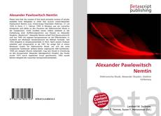 Couverture de Alexander Pawlowitsch Nemtin