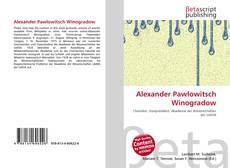 Couverture de Alexander Pawlowitsch Winogradow