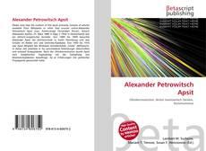 Portada del libro de Alexander Petrowitsch Apsit