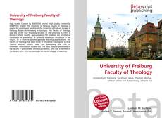 Bookcover of University of Freiburg Faculty of Theology