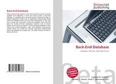 Back-End Database kitap kapağı