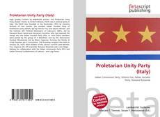 Proletarian Unity Party (Italy)的封面