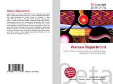 Warsaw Department kitap kapağı