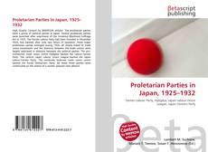 Buchcover von Proletarian Parties in Japan, 1925–1932