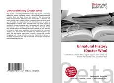 Borítókép a  Unnatural History (Doctor Who) - hoz