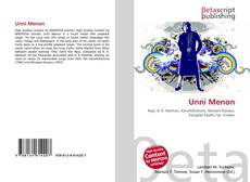 Bookcover of Unni Menon