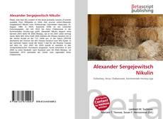 Обложка Alexander Sergejewitsch Nikulin