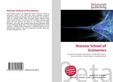 Bookcover of Warsaw School of Economics