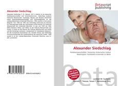 Обложка Alexander Siedschlag