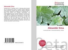 Bookcover of Alexander Sima