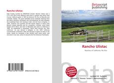 Bookcover of Rancho Ulistac