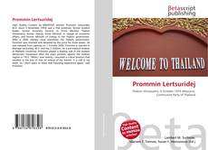 Bookcover of Prommin Lertsuridej