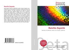 Bookcover of Rancho Zayante