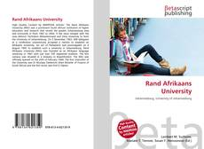 Bookcover of Rand Afrikaans University