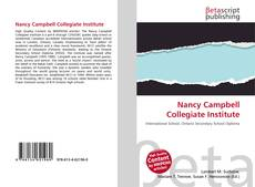 Nancy Campbell Collegiate Institute kitap kapağı