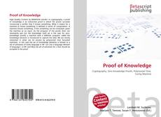 Bookcover of Proof of Knowledge