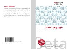 Bookcover of Vietic Languages