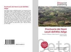 Prontuario dei Nomi Locali dell'Alto Adige的封面
