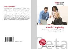 Bookcover of Proof Complexity