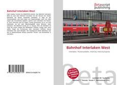 Bookcover of Bahnhof Interlaken West