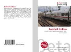 Capa do livro de Bahnhof Jedlová