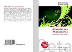Bookcover of Alexander aus Abonuteichos