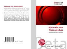 Bookcover of Alexander von Abonoteichos