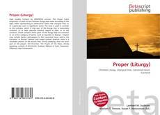 Bookcover of Proper (Liturgy)
