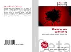 Buchcover von Alexander von Bulmerincq