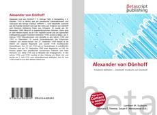 Couverture de Alexander von Dönhoff