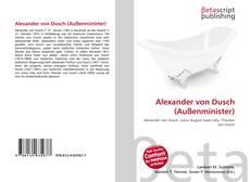 Bookcover of Alexander von Dusch (Außenminister)