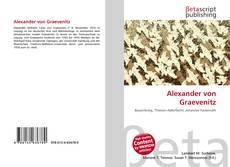 Couverture de Alexander von Graevenitz