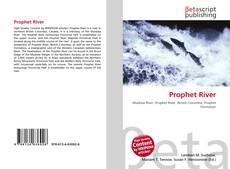 Couverture de Prophet River