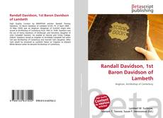 Bookcover of Randall Davidson, 1st Baron Davidson of Lambeth