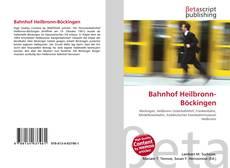 Capa do livro de Bahnhof Heilbronn-Böckingen