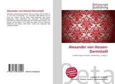 Alexander von Hessen-Darmstadt的封面