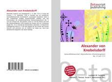 Buchcover von Alexander von Knobelsdorff
