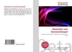 Bookcover of Alexander von Konstantinopel