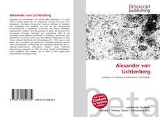 Обложка Alexander von Lichtenberg