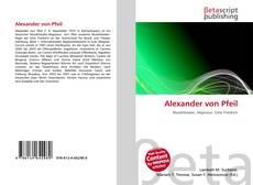 Alexander von Pfeil的封面