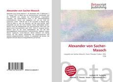 Buchcover von Alexander von Sacher-Masoch